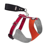 Doggles Over the Head Dog Harness, Orange/Red, XX Small