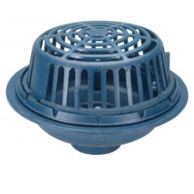 Zurn-wilkins Zurn Wilkins Z100-6NH 6 x 5 Diameter Main Roof Drain, No Hub Outlet, Poly Dome