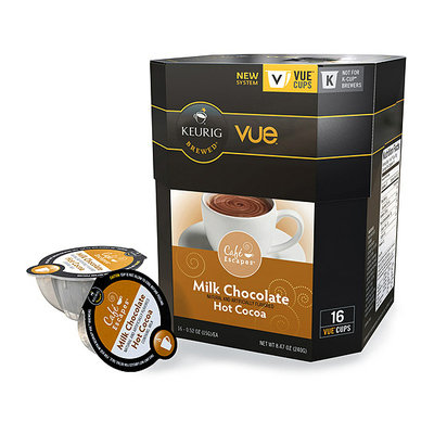 Keurig Vue Pack Cafe Escapes Milk Chocolate Hot Cocoa