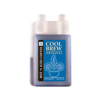 Coolbrew Cool Brew® Fresh Coffee Concentrate - Original 1 Liter - Make Iced Coffee or Hot Coffee - Enough for over 32 drinks