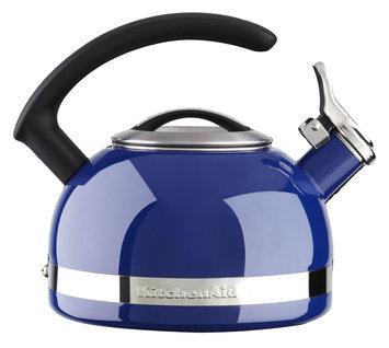 KitchenAid 2.0 Quart Porcelain Enamel Kettle - Doulton Blue