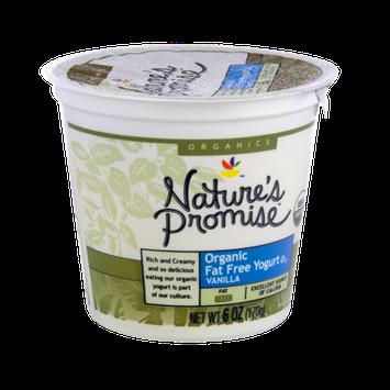 Nature's Promise Organics Organic Fat Free Vanilla Yogurt