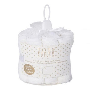 Tots Fifth Ave 1720 Terry Knit Washcloths White