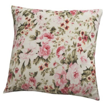 Madison Jersey Pillow Slipcover - Floral Pink