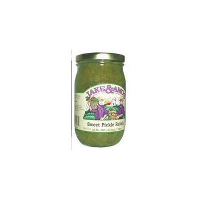 Jake & Amos Sweet Pickle Relish, 16 Ounce - 3 Pack