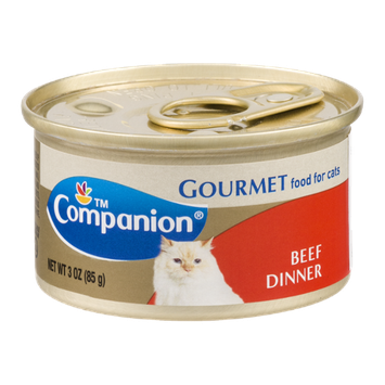 Companion Gourmet Food for Cats Beef Dinner 3 OZ