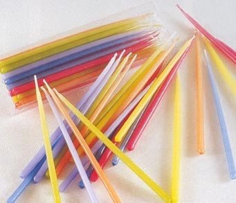 TAG Birthday Cupcake / Cake Party Candles (Tapers), Set of 24 7-Inch Tall, Assorted Colors