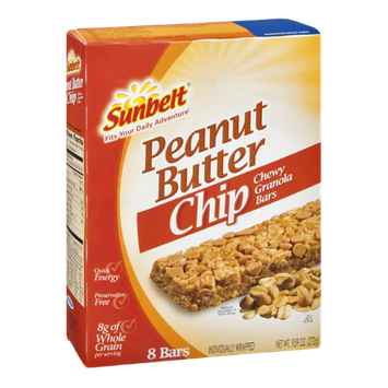 Sunbelt Granola Bars Peanut Butter Chip Chewy - 8 CT