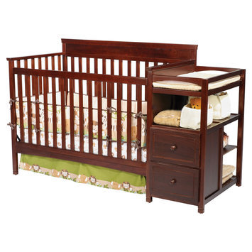Delta Enterprise Corp Delta Childrens Houston Crib N Changer-Espresso - DELTA ENTERPRISE CORP.