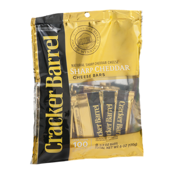 Cracker Barrel Cheddar Cheese Bars Sharp - 8 CT