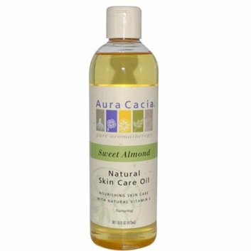 Aura Cacia Natural Skin Care Oil Sweet Almond 16 fl oz