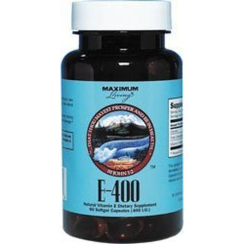 Maximum Living Vitamin E 400 400 IU 60 Sgels