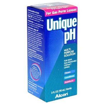 Alcon Unique pH Multi-Purpose Solution for Rigid Gas Permeable Contact Lenses, 3-Ounce Bottles (Pack of 3)