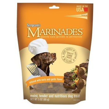 Sergeant's Pet Sergeant's Marinades 3-Ounce Infused Dog Treat, Garlic and Herb