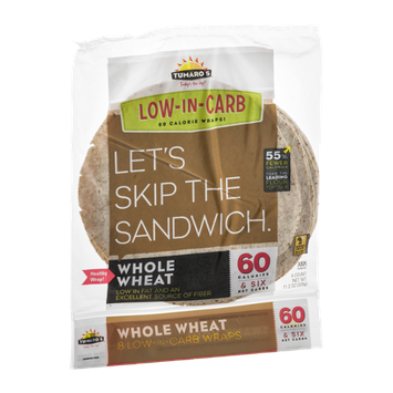 Tumaro's Wraps Low-In-Carb Whole Wheat - 8 CT
