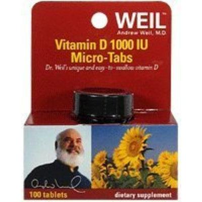 Weil Nutritionals Dr. Weil Vitamin D 1,000 IU Micro Tabs, 100 ct