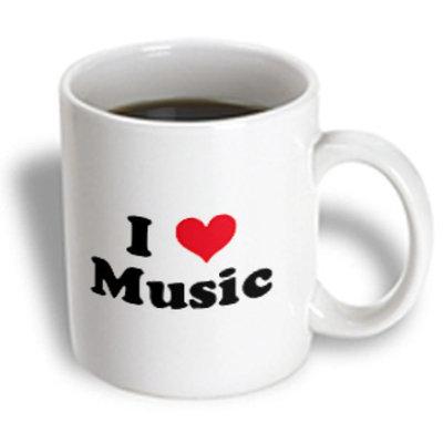 Recaro North 3dRose - Mark Andrews ZeGear Love - I Love Music - 11 oz mug