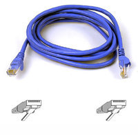 Belkin A3L980-05-BLU CAT6 Snagless Networking Cable, 5', Blue