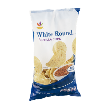 Ahold Tortilla Chips White Round
