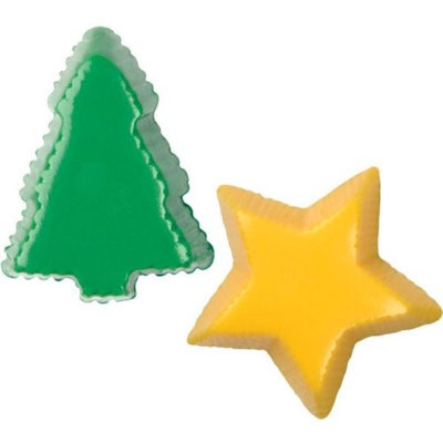Make N Mold 2143 Star and Tree Bon Mold, Pack of 6