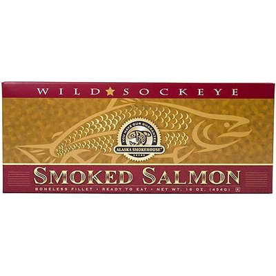 Alaska Smokehouse Smoked Sockeye Salmon Fillet In Gold, 16 Ounce Gift Box