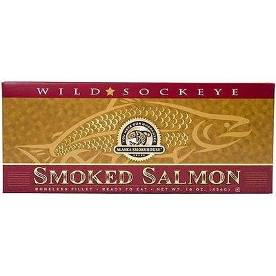 Alaska Smokehouse Smoked Sockeye Salmon Fillet In Gold, 16 Ounce Gift Box
