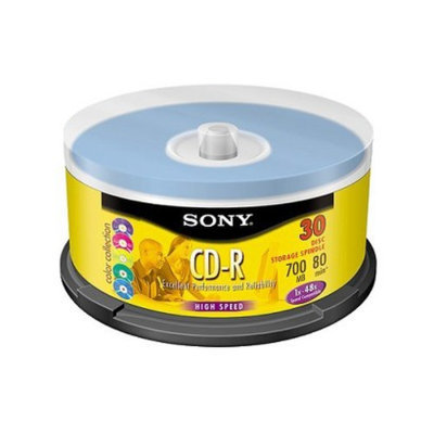 Sony 700MB 30-pk. CD-R Data with Spindle Cases