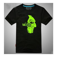 Kayak Movie Tshirt- Saw - Creative Tshirt Noctilucous Nightlight Grow Light in Dark / Light of Night Tshirt2,Black,L (Email us if you need other size)