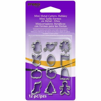 Polyform Premo Mini Metal Cutters 12/Pkg-Holiday