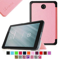 Fintie Slim Shell Case Ultra Slim Lightweight Stand Cover for Dell Venue 8 Android Tablet, Pink