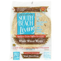 South Beach Diet Whole Wheat Wrap, 10-Count, 8-Inch Wrap (Pack of 6)