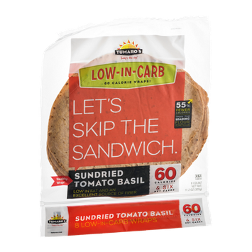 Tumaro's Wraps Low-In-Carb Sundried Tomato Basil - 8 CT