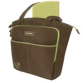 Ad Sutton Gerber Diaper Bag Tote- Brown/Sage