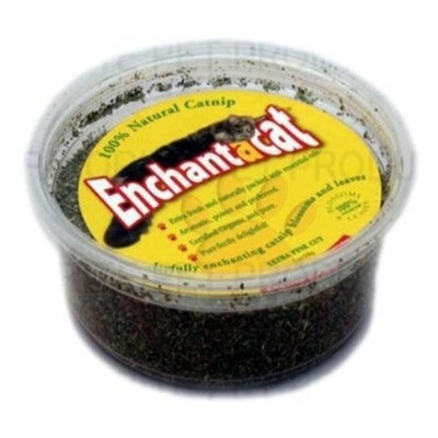 Enchantacat Premium Organic Catnip Ultra Fine Cut in Container, 1-Ounce