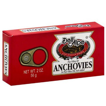 Dell Alpe Flat Fillets pf Anchovies, 2 oz, (Pack of 25)