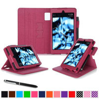 Kindle Fire HD 6 Tablet (2014) Case, roocase new Kindle Fire HD 6 Dual View Folio Case with Sleep / Wake Smart Cover with Multi-Viewing Stand for All-New Fire HD 6 Tablet (2014), Magenta