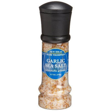 Olde Thompson e Thompson Garlic Sea Salt, 9.7-Ounce Grinders (Pack of 2)