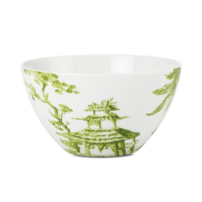 Scalamandre by Lenox, Toile Tale Chartreuse Bowl