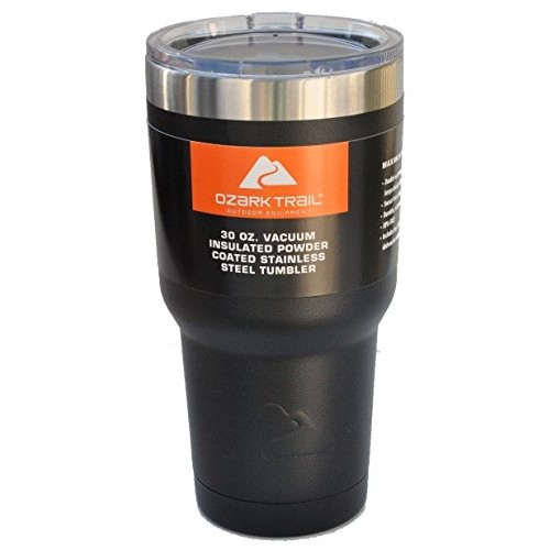 Ozark Trail Outdoor Equipment Ozark Trail Vacuum Insulated Powder Coated Stainless Steel Tumbler - Black