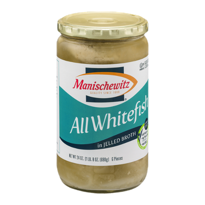 Manischewitz All Whitefish Pieces in Jelled Broth - 6 CT