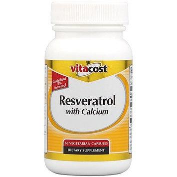 Vitacost Brand Vitacost Resveratrol with Calcium -- 100 mg - 60 Vegetarian Capsules