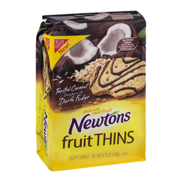 Nabisco Newtons Fruit Thins Toasted Coconut with Dark Fudge