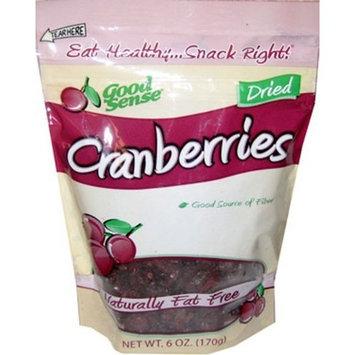 Good Sense Cranberries, 6 Ounce Bags (Pack of 6)
