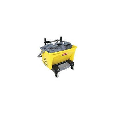 Rubbermaid Commercial Pedal Wring Bucket, Yellow