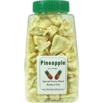 Harmony House Foods, Inc. Harmony House Foods Freeze-Dried Pineapple Chunks (5 oz, Quart Size Jar)