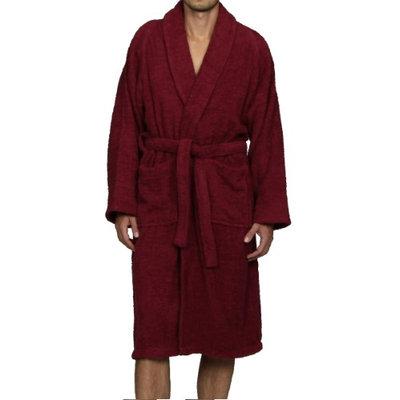 Blue Nile Mills Unisex 100% Egyptian Cotton Bath Robe Small, Burgundy