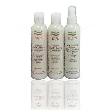 La Brasiliana UNO Shampoo & DUE Conditioner & DEICI All in one 8.45oz