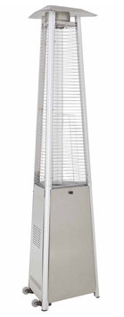 Garden Treasures Stainless Steel Glass Tube Patio Heater with Table BSH-A-SS