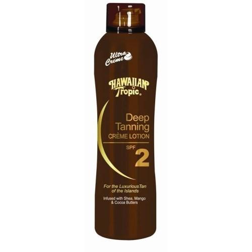 Hawaiian Tropic Deep Tanning Cr?me Lotion Spf 2, 6-Ounces (Pack of 2)