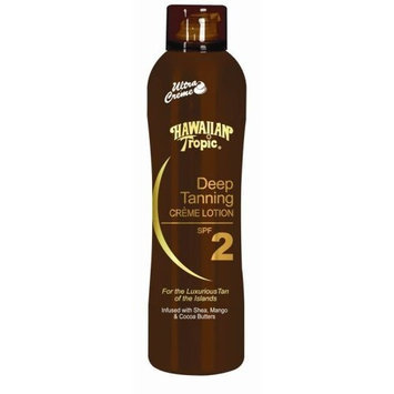 Hawaiian Tropic Deep Tanning Cr?me Lotion Spf 2, 6-Ounces (Pack of 2)